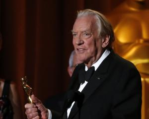 Actor Donald Sutherland accepts the Governors Award. Photo: Reuters