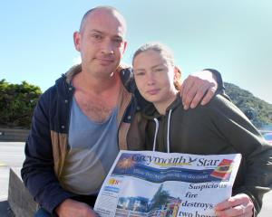 Brad Madden and partner Annette Jacobs are grateful to the neighbour who alerted them to a fire...