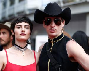 Isabella Manfredi and Kirin J Callinan (R) arrive for the ARIA Awards in Sydney. Photo: Getty
