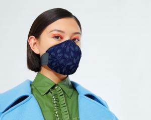 A MEO Mask designed by Karen Walker. Photo: MEO Mask & Lanaco