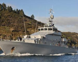 The HMNZS Taupo has joined the search for a missing fisherman off the coast of Bowentown, near...
