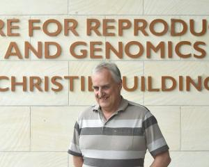 John McEwan outside the Christie Building which houses his office at AgResearch's Invermay site....