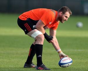 All Blacks captain Kieran Read at a training earlier on the tour. Photo: Getty Images