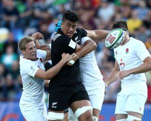 Marino Mikaele Tu'u in action for the New Zealand under-20 team earlier this year. Photo: Getty...