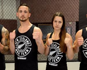 Otago MMA fighters Lapa Halangahu, Taylor Garrett, Hannah Dawson and Pat Hamer will represent New...