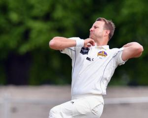 Neil Wagner of Otago runs in to bowl during a Plunket Shield match. Photo: Getty Images