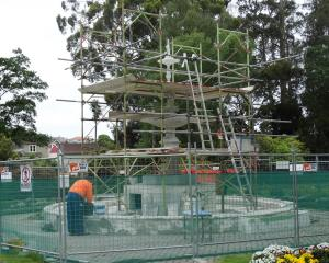Work to restore Craig Fountain, in the Oamaru Public Gardens, is scheduled to be completed by the...