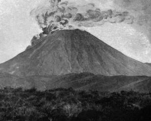 Mt Ngauruhoe has erupted violently several times since the beginning of the month, ejecting...