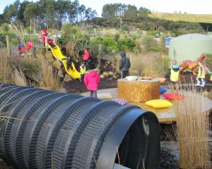 The children's play area at Orokonui. Photos: Claire Freeman