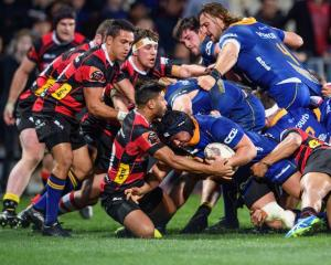 Sam Anderson-Hearther drives over to score for Otago against Canterbury this year, a team it will...