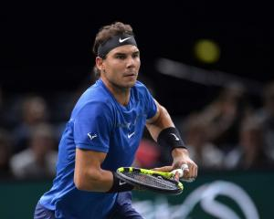 Rafael Nadal during his win over Chung Hyeon at the Paris Masters. Photo: Getty Images