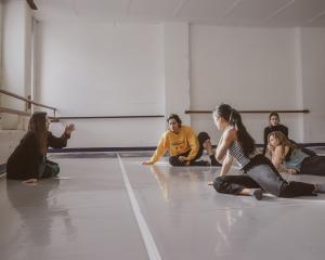 Sarah Foster-Sproull works with the Footnote dancers on her latest piece, Super Ornate Construct....