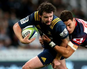 Richard Buckman in action for the Highlanders against the Rebels in Dunedin in March. Photo Getty...