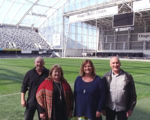 Looking forward to the Christmas in the Stadium event on December 2 are (from left) Acts of...