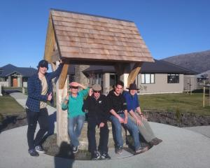 Mt Aspiring  pupils at a ''men's club''. Photo: Liz Breslin