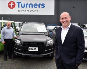 Turners Cars chief operating officer Jonathan Sergel (foreground) and new Dunedin branch manager...