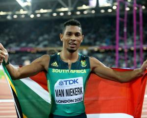 Wade van Niekerk after winning silver in the 200m at the world championships in London this year....