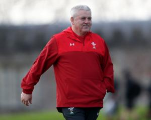Wales coach Warren Gatland at training this week. Photo: Getty Images