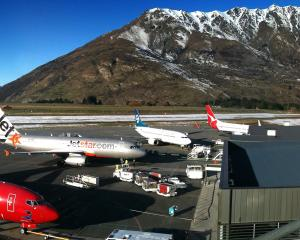 The Queenstown Airport on a busy day. Photo: NZH