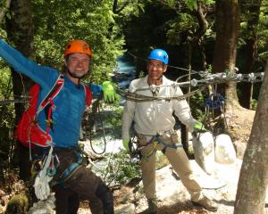 Paradise Ziplines owner Chris Russell (right)  and operations boss Dave Anderson. Photos: Louise...