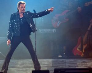 Johnny Hallyday performs at the Stade de France in Paris in May 2009. Photo: Reuters