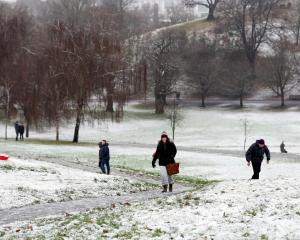People walk through the snow in Greenwich Park, London. Photo Reuters