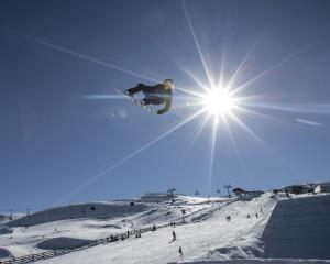 A long skiing season helped boost Otago guest nights; pictured, Brock Crouch, of the US, in the...