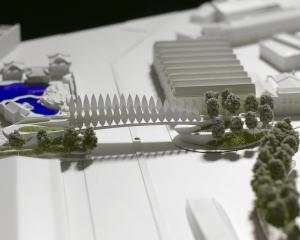 A model of the bridge into the Steamer Basin proposed by Damien van Brandenburg. Photo: Gerard O...