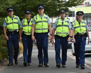 Christmas Crime Prevention team members (from left) Constable Daniel Napier, Constable Mel Duff,...