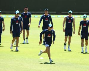 England players at a nets session at the WACA on Tuesday. Photo: Getty Images
