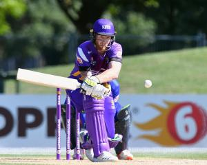 Canterbury all-rounder Ben Stokes plays a reverse sweep on his way to a magnificent 97 in his...