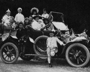 Baby day at Gore: a car-load of children, with Mrs Jas A. Blaikie, president of the local branch...