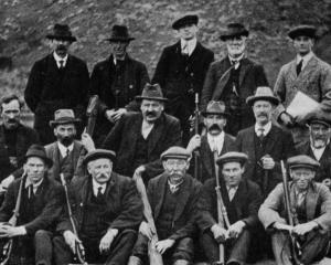 A group of riflemen, past and present, who took part in the opening shoot at Gore.