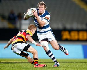 Hadleigh Parkes on the attack for Auckland against Waikato. Photo: Getty Images