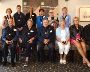 Among recipients in the Kiwibank Local Hero Awards, Otago region, are (back, from left) Lesley...