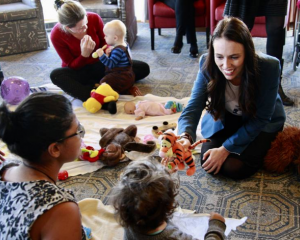 Prime Minister Jacinda Ardern made children the centre of her campaign platform. Photo: NZ Herald