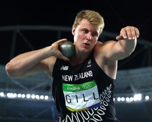 Jacko Gill throws the shot put at the Rio Olympics in 2016. Photo: Getty Images