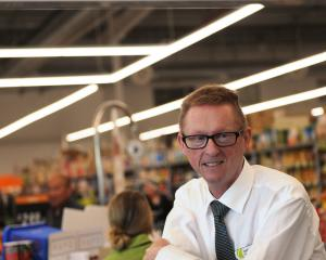 FreshChoice owner John Moyle at his store in Green Island. Photo: Christine O'Connor