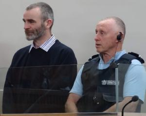 Benjamin McLean fought back tears as he pleaded guilty to murdering his wife yesterday. Photo: NZME