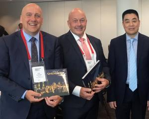At the New Zealand China Mayoral Forum in Wellington this week are (from left)  Central Otago...