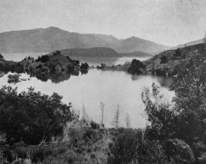 A noted feature of Lake Wanaka: the elevated Paradise Lake, on Pigeon Island. — Otago Witness, 19...