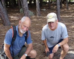 Wakatipu Reforestation Trust trustee Neill Simpson (left) and management group member Greg...