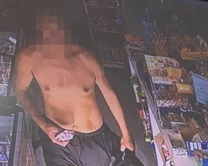This is the man the owner of the Park Minimart and Takeaways believes stole the pie. The image...