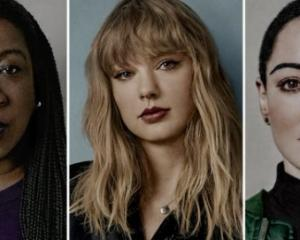 Tarana Burke, Taylor Swift, Rose McGowen. Photo: Twitter @TIME