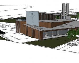 A drawing of the proposed Wakatipu Community Presbyterian Church at Frankton. Graphic: Enviroark...