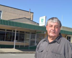 President Les Thomas outside the club this morning. Photo: Greymouth Star