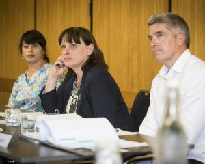 Teachers Disciplinary Tribunal members (from left) Kiri Turketo, chair, Theodora Baker and Simon...
