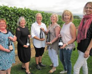 Central Otago Winegrowers Association executive officer Natalie Wilson (right) and Central Otago...