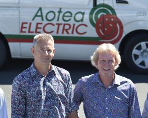 Aotea's management (from left) Aotea Group Holdings Ltd chief executive Paul Parsons, Aotea...