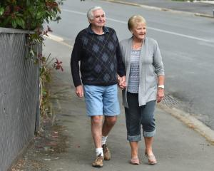 Kevin and Kay Small outside their Dunedin home yesterday. Photo: Gregor Richardson